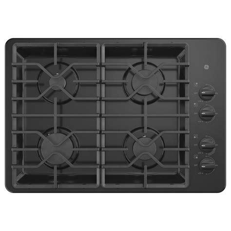 black gas cooktops ge 30 in built in gas cooktop in black with 4 burners