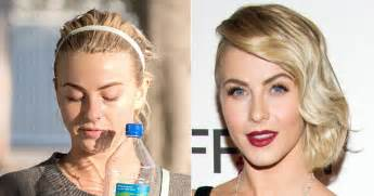 what face shape is julianne hough julianne hough photos stars caught without makeup ny