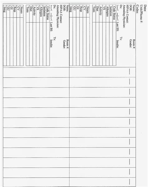 shift report sheet template 1000 images about stuffs on nursing