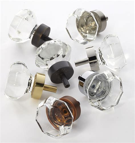 Octagon Glass Cabinet Knob Rejuvenation Octagonal Glass Door Knobs