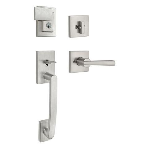 Baldwin Door Handleset - spyglass handleset with spyglass lever 180sphxspl sqr 15 smt