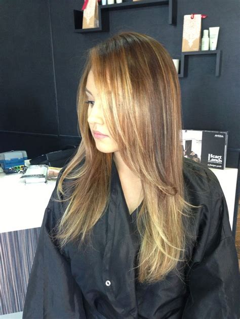 partial highlighting placement 29 best images about balayage by briza on pinterest