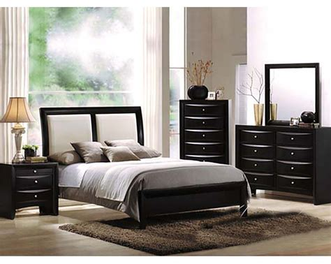 acme bedroom furniture acme furniture bedroom set in black ac04160set