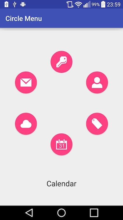 circular layout in android exle android layout views rotated and spaced around a circle