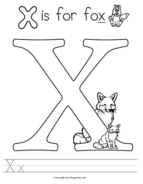 Letter X Coloring Page alphabet coloring pages