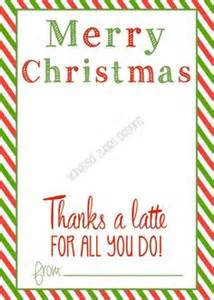 thanks a latte card template 7 best images of merry printable gift