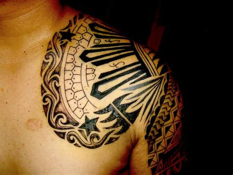mayan tribal tattoo 12 mayan shoulder tattoos