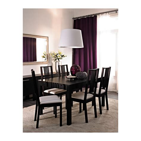 ikea black brown dining table bjursta extendable table brown black 140 180 220x84 cm ikea