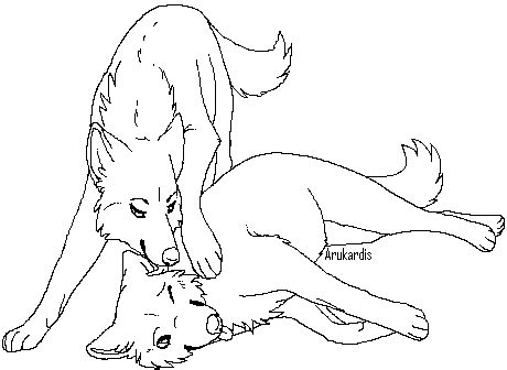 wolf love coloring pages free wolf couple lineart 3 by arukardis on deviantart