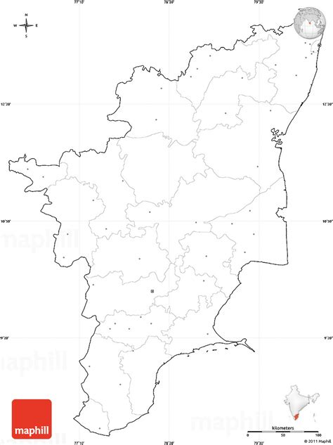 Tamilnadu Outline Map India tamil nadu outline map printable printable maps