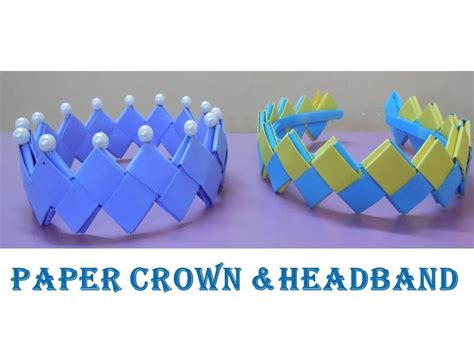 How To Make Paper Crowns For - diy how to make crown and headband from paper