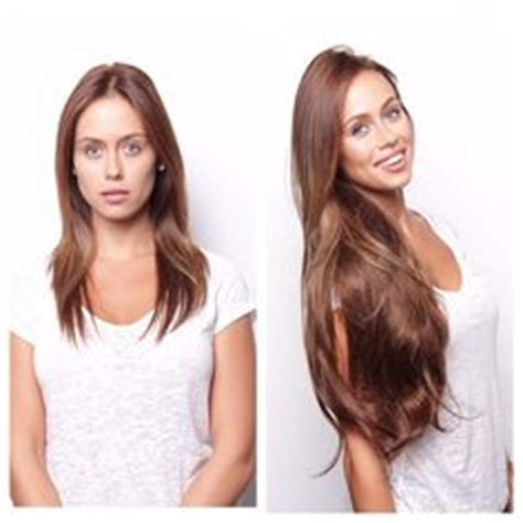 bellami medium brown before and after bellami hair on pinterest extensions