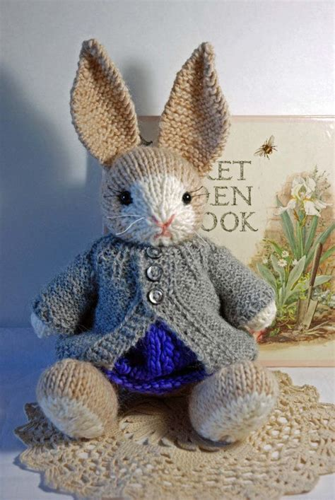 knitting pattern rabbit toy francis knitted easter bunny rabbit toy in springtime
