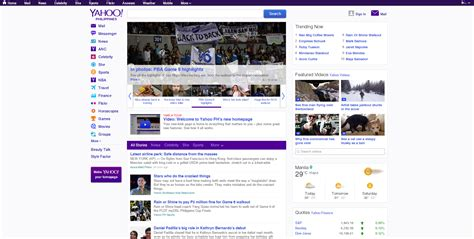 Yahoo Search Philippines Yahoo Launches New Homepage In The Philippines Yahoo News Philippines