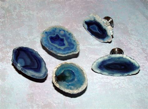 Agate Drawer Pulls by Small Custom Blue Agate Slice Drawer Pulls Knobs Home