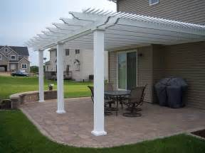 Attached Vinyl Pergola heartland pergolas attached vinyl pergola kit project