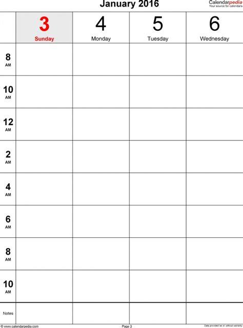 block calendar template 2016 free calendar template