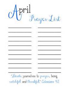 Printable Prayer List Template Prayer List Related Keywords Amp Suggestions Prayer List