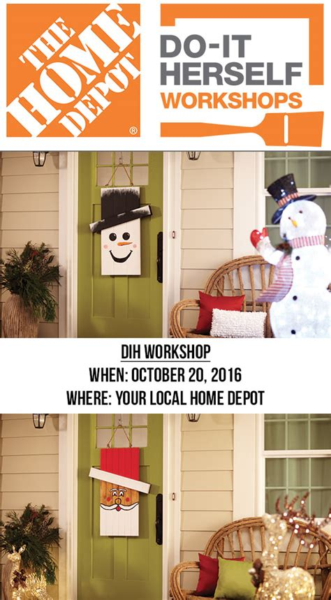 home depot dih workshop seasonal character