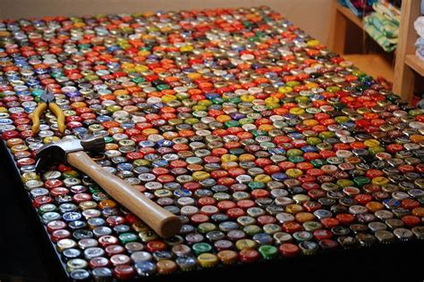 how to make a bottle cap table instructions making a bottle cap table https www