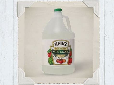vinegar to remove paint residue from cement brick or