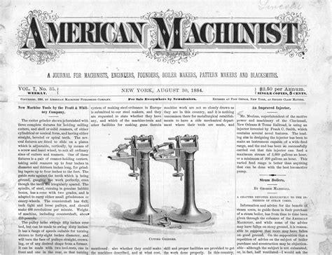 pattern maker machinist american machinist magazine august 30 1884 vol 7 no 35