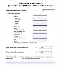 household budget sheet template budget sheet template 7 free sles exles format