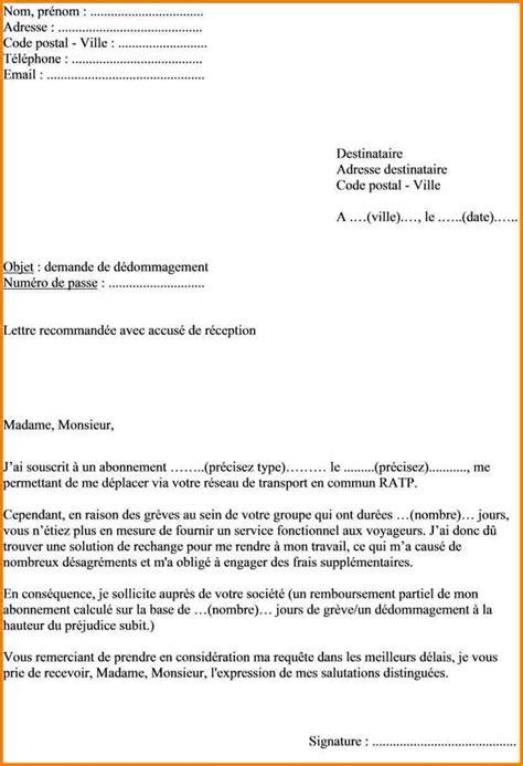 Lettre De Reclamation Visa Comment Ecrit On Une Lettre Exemple Lettre Pr 233 Sentation Jaoloron