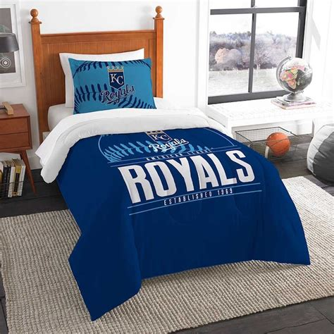 kansas city royals twin comforter set with sham buy at