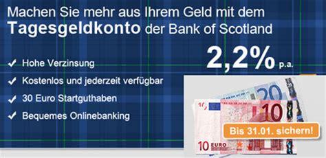 einlagensicherung bank of scotland bank of scotland kostenloses tagesgeldkonto mit 2 2
