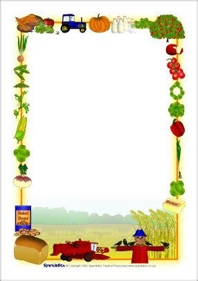 printable farm stationary harvest themed a4 page borders sb2855 sparklebox