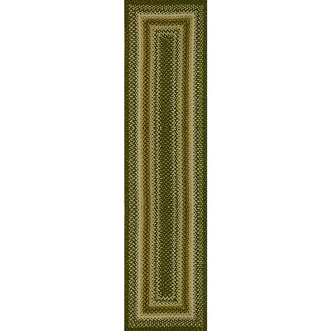 lowes runner rugs shop style selections braided rug green indoor outdoor braided runner common 2 ft x 8 ft