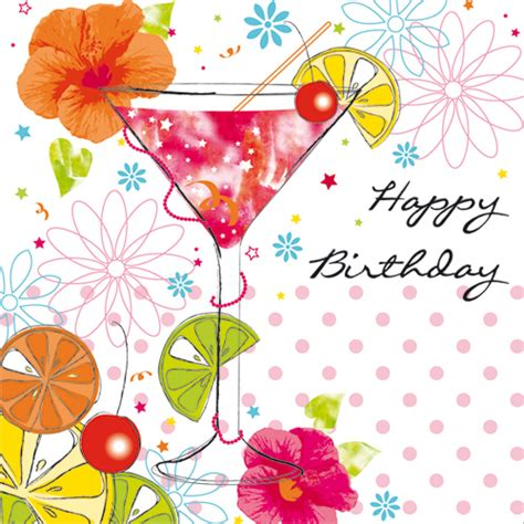 martini birthday wishes birthday cocktail greetings cards for women from phoenix