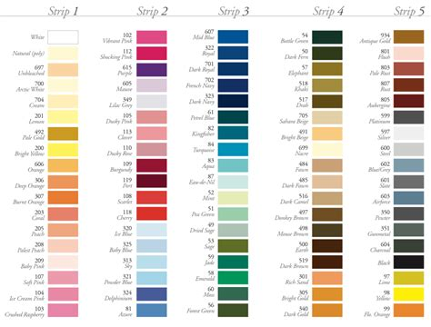 color shades thread shade colour card empress mills