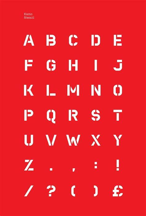 stencils on behance kamo typeface on behance stencil fonts pinterest