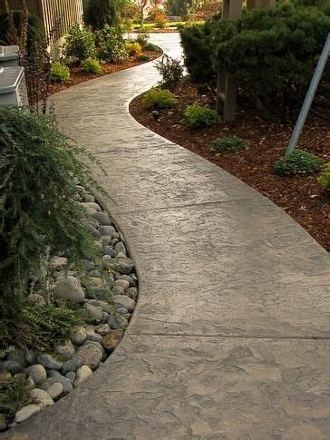 sted concrete walkway ideas aesthetic addition to a