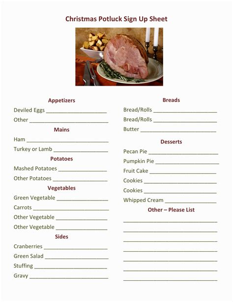 christmas party food sign up sheet free sign up sheet buffet finger food decorating of