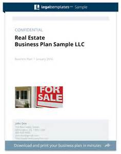 Property Business Plan Template by Real Estate Business Plan Sle Templates