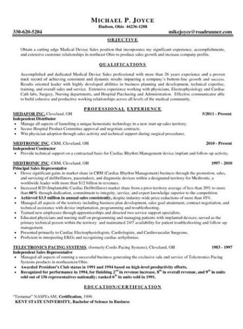 resume sles for it outside sales resume template learnhowtoloseweight net