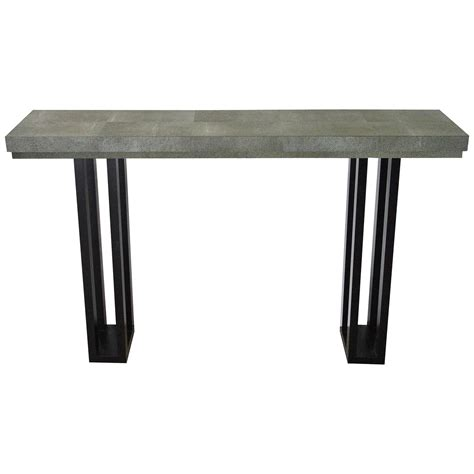 Leather Console Table Faux Shagreen Leather Console Table By Fabio Bergomi At 1stdibs