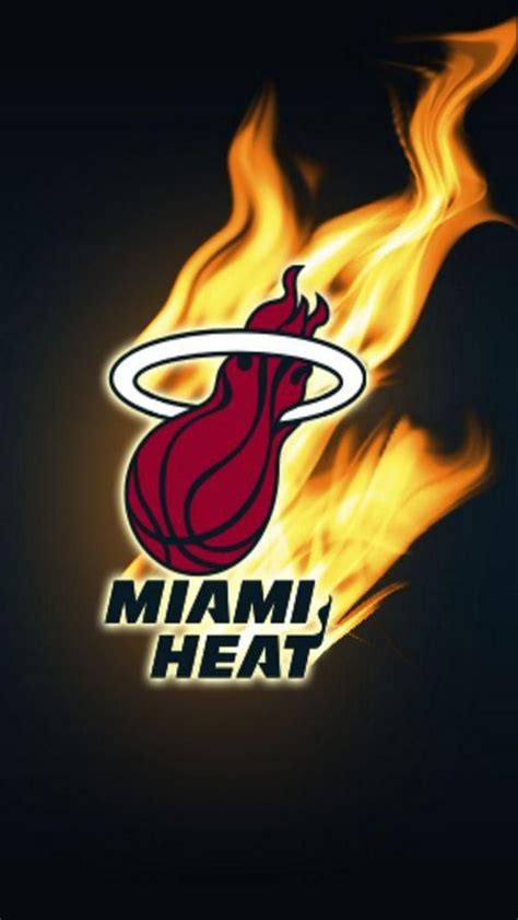 wallpaper for iphone nba burning miami heat logo iphone 5 5s 5c hd wallpaper and