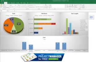 Microsoft Excel Dashboard Template by Guide To Excel Project Management Projectmanager