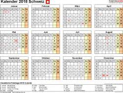 Kalender 2018 Schweiz Basel Kalender 2018 Schweiz In Excel Zum Ausdrucken