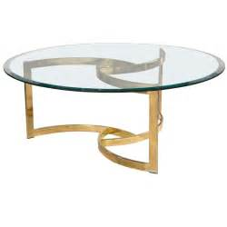 Coffee Table With Glass Top Mid Century Brass Swirl Base With Glass Top Coffee Table At 1stdibs
