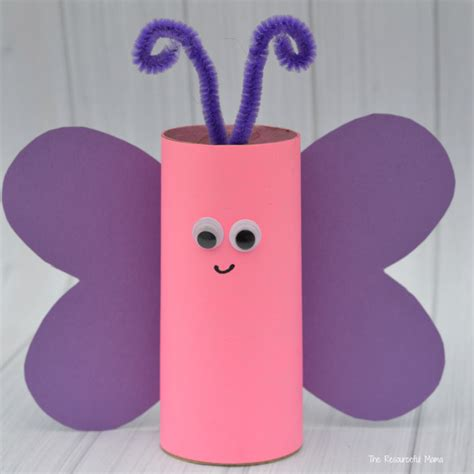 toilet paper roll butterfly craft the resourceful