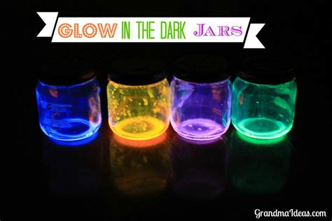 glow in the crafts for glow in the jars