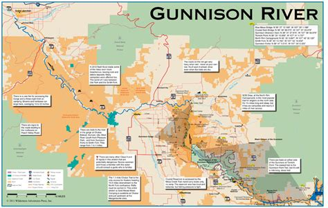 fly fishing colorado map my gunnison river 11x17 flyfishing map 8160132 wap 9 95