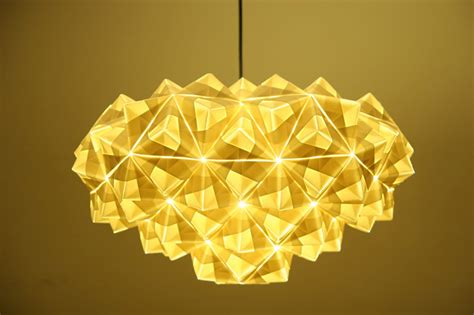 Origami Light Fixture Foldability To Unveil Gorgeous Origami Pendant Ls At Designjunction 2013 Foldability Origami