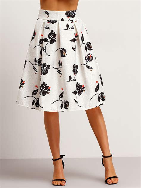 faldas cortas con vuelo falda flores jacquard con vuelo sheinside faldas