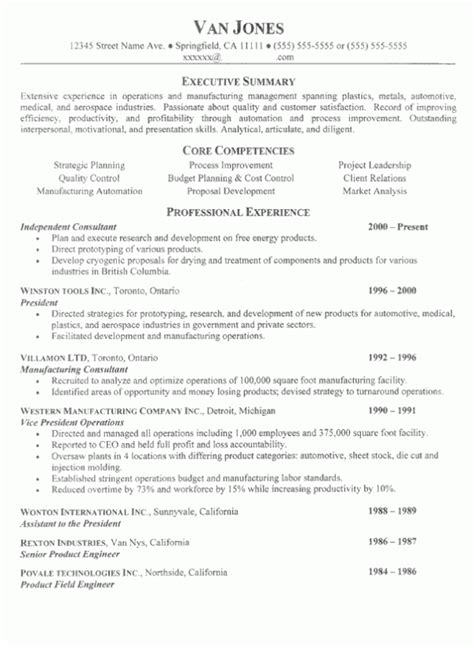 Sle Executive Resume Competencies Resume Format Resume Writing For Felons